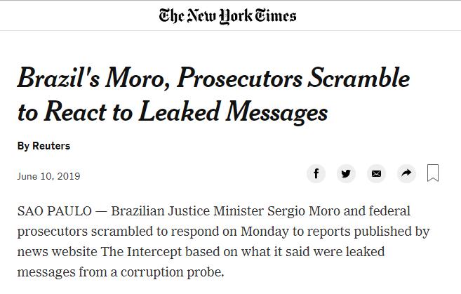 Matéria no The New York Times
